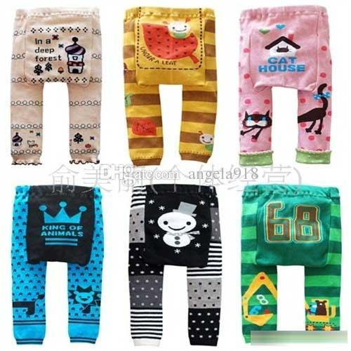 DHL 2016 new kids cute Toddler 36 designs Busha PP Pants Baby Warmer Leggings Tights Baby Trousers Toddler Pants C287