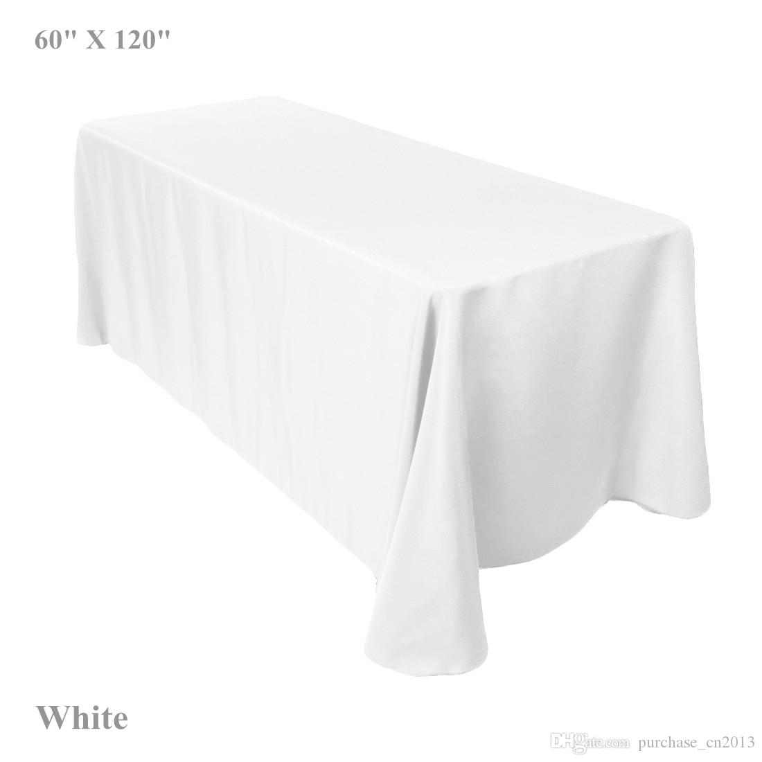 Table Cloth White Ivory Black 60x 120 Rectangular Polyester Table Cover  Wedding Restaurant Banquet Party By Fedex White Cotton Tablecloth Round  White ...