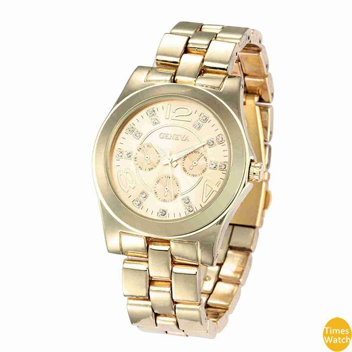 Женский Женева часы женщины платье часы розовое золото Римский циферблат кварцевые рождественский подарок часы стандартное качество классический