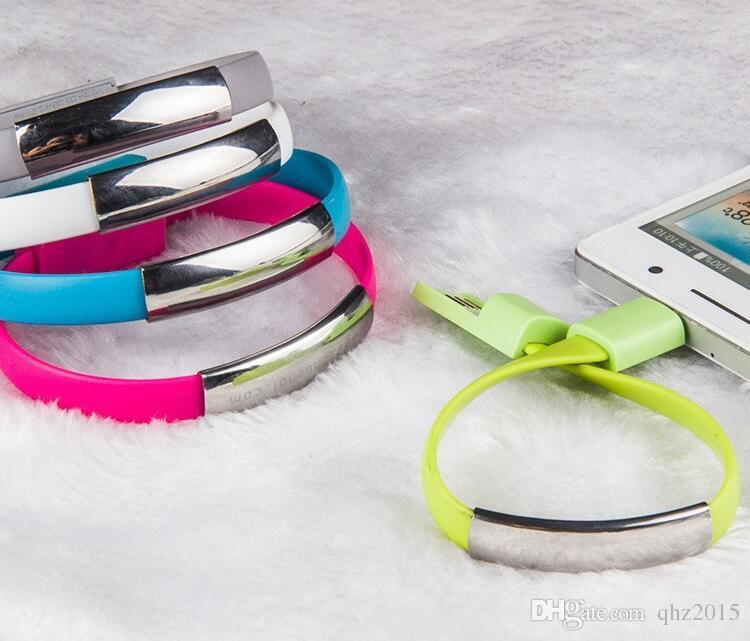 Новый стиль портативный наручные браслет зарядки микро USB синхронизации данных зарядный кабель для samsung S4 примечание 4 HTC один DHL бесплатно