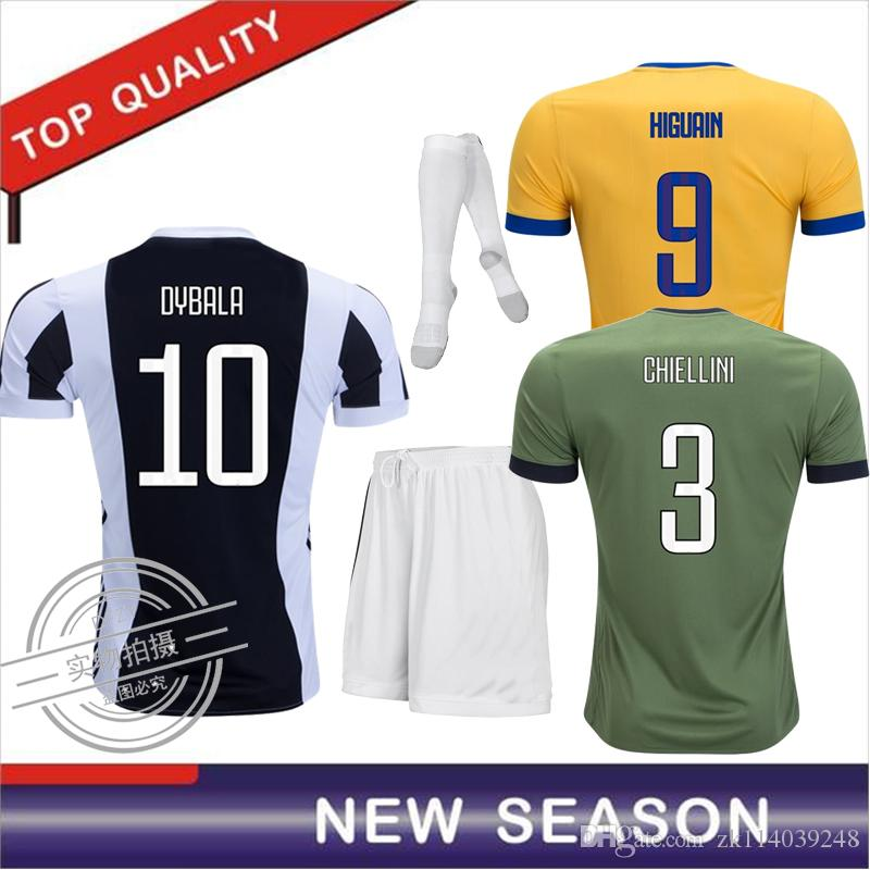 96a76916541b 2019 Football Kids 2018 Home Soccer Jersey 17 18 DYBALA Soccer Shirt  Customized MARCHISIO MANDZUKIC HIGUAIN Football Shirt+Sock From  Zk114039248