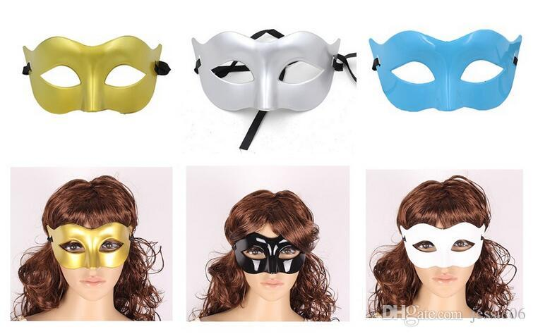 Hot Men Monochrome Masker Maskerade Party Half Gezicht Een eenvoudige Mode Halloween Masker Venetië Kerstmismasker Geschenken