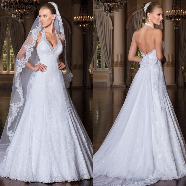 Backless Wedding Gowns For Sale: Discount Hot Sale 2015 Fashion White Wedding Dresses Sexy