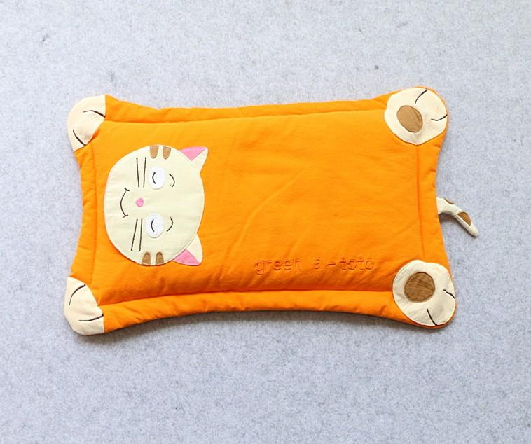 korean children cartoon pillow cotton sand washing cotton baby pillow buckwheat pillow