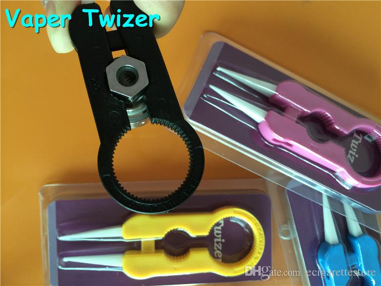 Multifunction Vaper Twizer Colorful Wrapping Coiler Adjustment Wire Spanner Tool Insulated Ceramic Tweezer In stocl Fast Ship