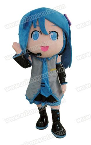 Fast Delivery lovely girl mascot costume Cartoon Mascot Costumes for Kids Birthday Party Deguisement Mascotte Custom Mascots at Arismascots