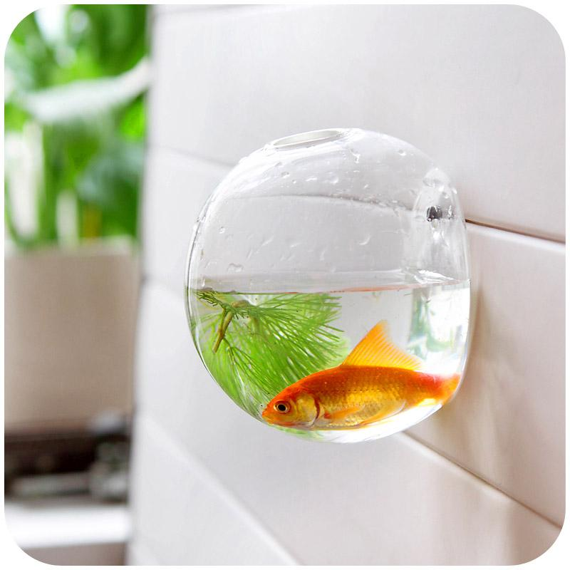 Home Decoration Glass Vases Wall Hanging Decorative Vases Fish