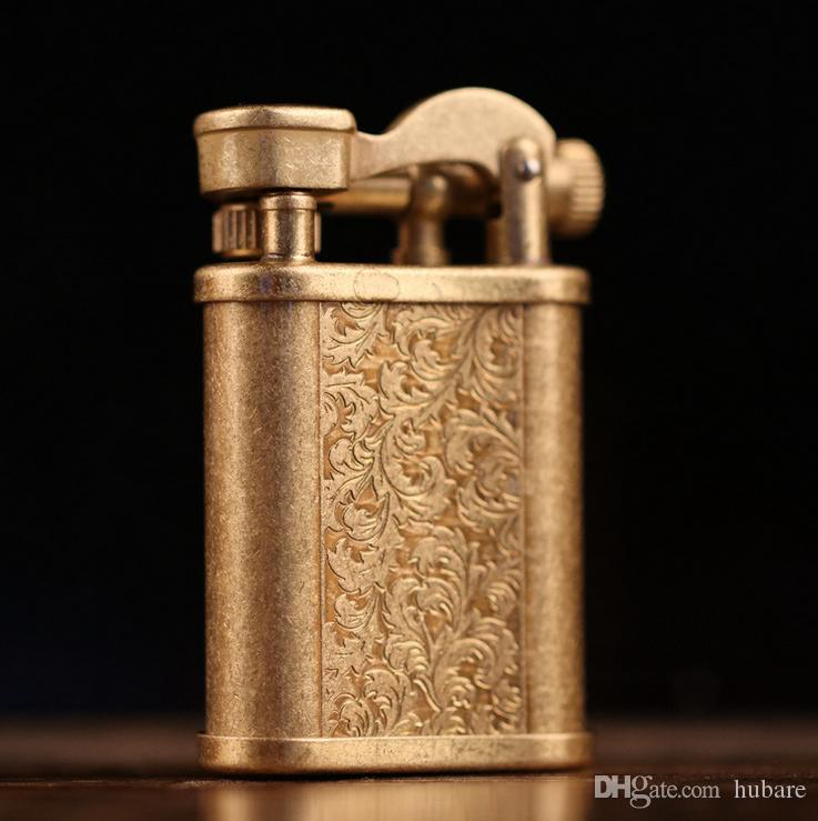Fantastic Vintage Cigarette Kerosene Lighter Table Handmade Retro Metal Brass Lighter Interior Design Ideas Gentotryabchikinfo