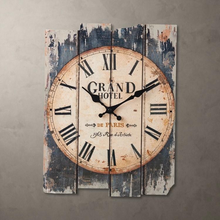 نمط البلد كتم ساعة الحائط خشبية لا يد مستعمل 30 * 39 سم 0201011