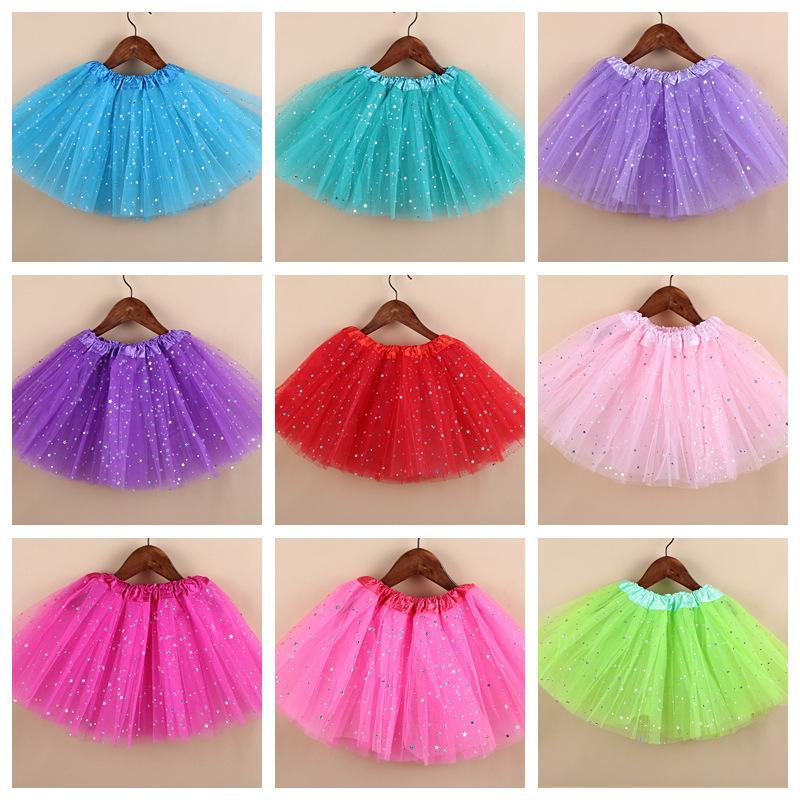 4-10Y Kerstmis meisjes glitter ballet tutu rok kinderen pettiskirt prinses rok dancewear kinderen kleding meisjes kleding