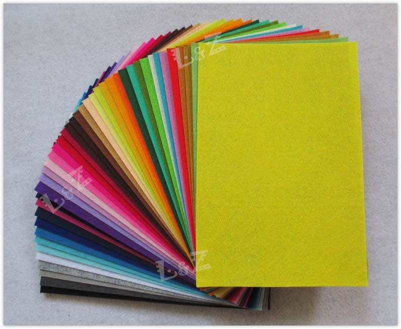 Colorful Polyester Felt Sheets Fabric Nonwoven Sheet for DIY Craft ...