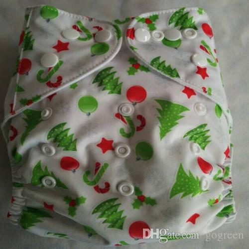 For Merry Chrismas Naughty Baby One Size Washable Reusable Cloth Diaper Covers Baby Diaper Colorful Bags baby cloth Nappy diaper lot