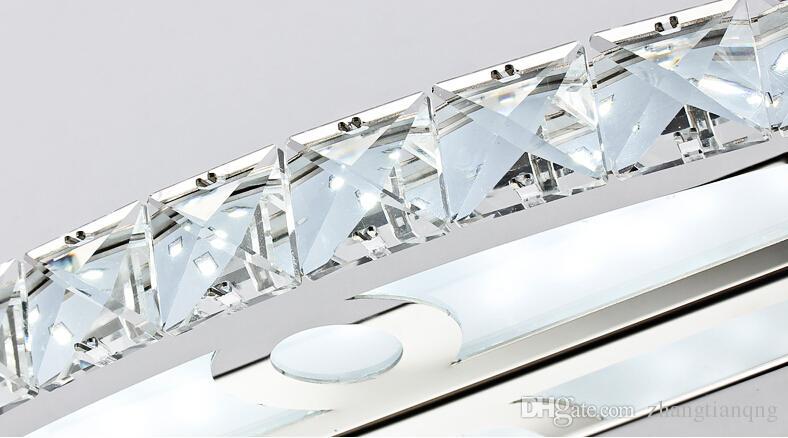 الجملة حار بيع أنيقة 10W ChampagneClear LED كريستال مرآة مصباح الحمام الجدار الخفيفة مرآة الإضاءة 44 سم طويل بنفايات CE