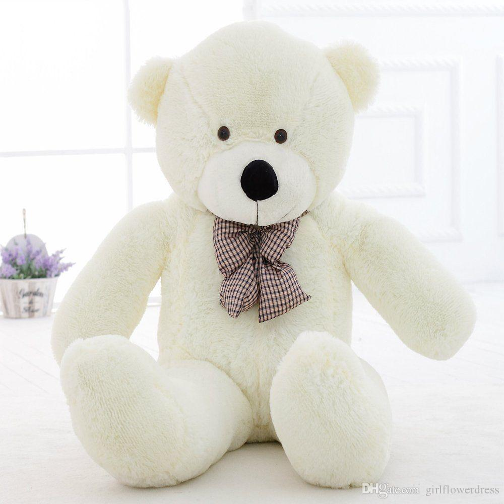 86f1f5ffd85 2019 47  Giant Big Huge White Teddy Bear Plush Stuffed Soft Toys Doll Kids  Gift 120cm From Girlflowerdress