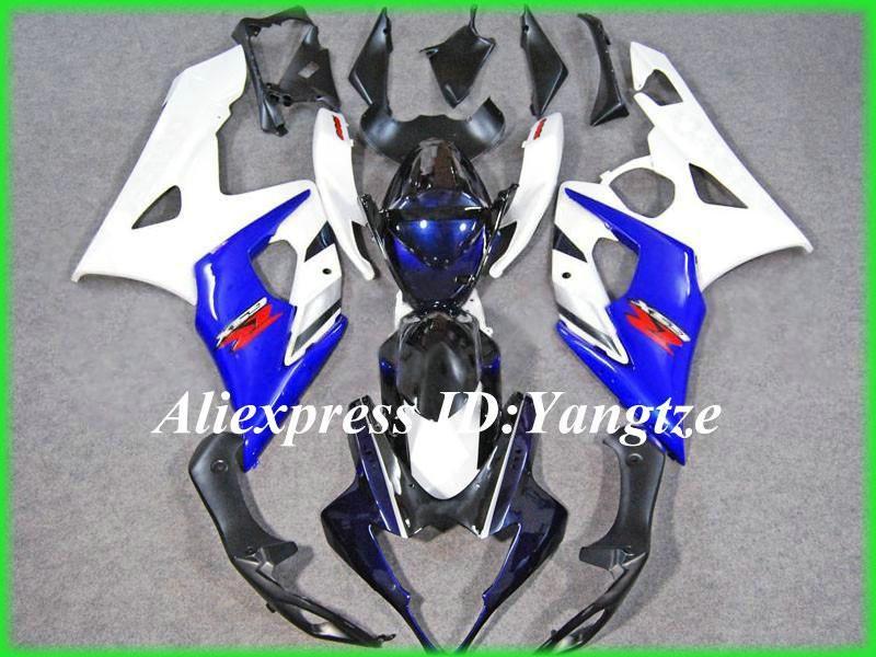 2015 motorcycle fairing kit for SUZUKI GSXR 1000 05 06 GSX-R GSXR 1000 K5 2005 2006 Famous white blue trim parts