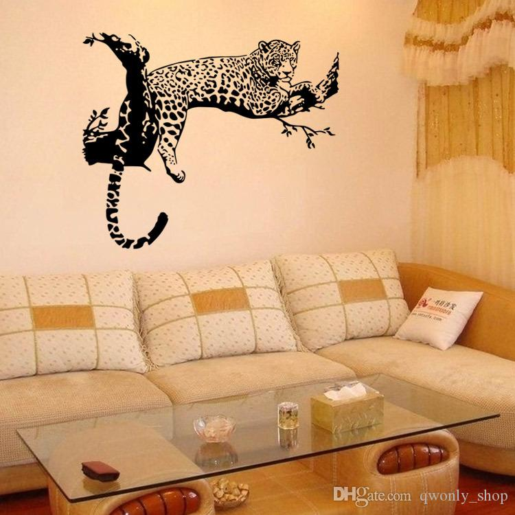 DIY Home Decor Removable Creative Tiger Wall Stickers For Living Rooms Waterproo
