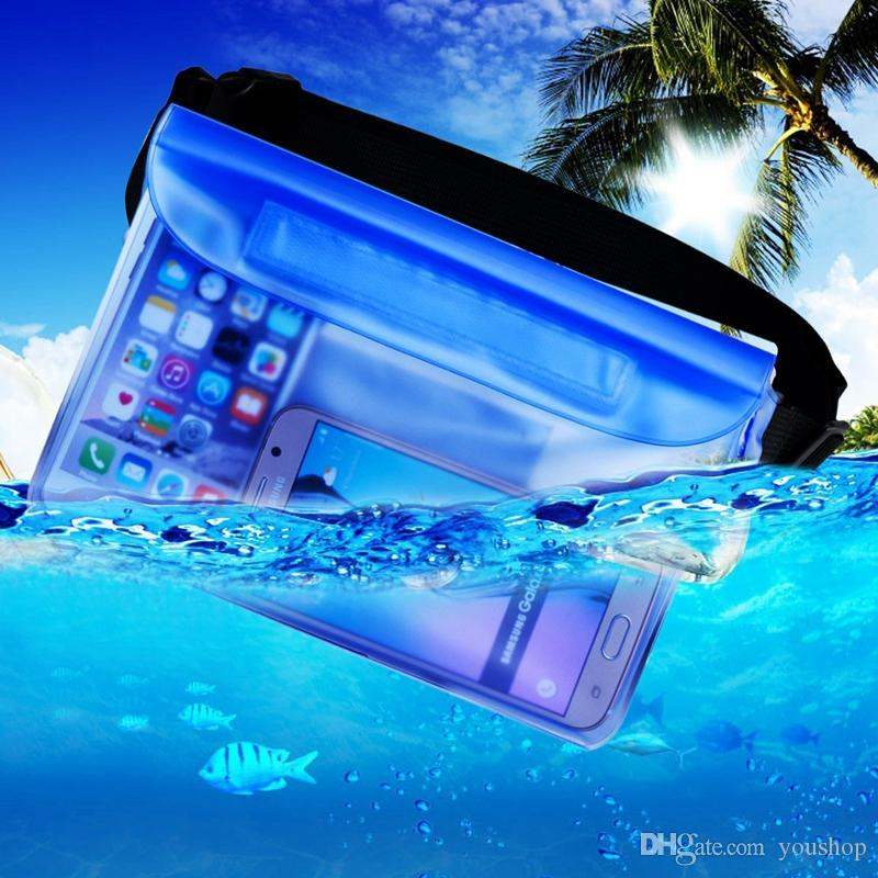 Waterproof Pouch Dry Bag Case with Waist Strap for Beach Swimming Boating Kayaking Fishing Hiking for Cell Phone Camera Cash MP3 Passport