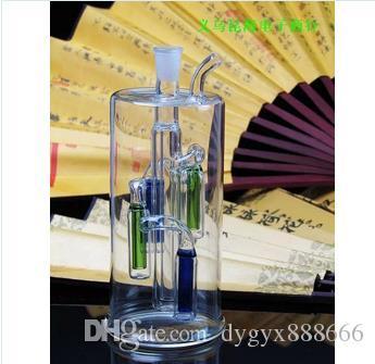 BBK 멀티 컬러 필터 유리 냄비 높은 13.5CM 너비는 6CM, 스타일, 색상 임의 공급, 도매 유리 물 담뱃대, 대형 좋아