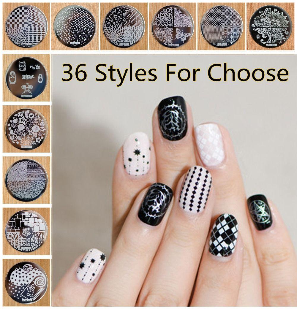 Hive Flower Pattern Nail Art Stamp Template Etc Hehe 1 36 Series ...