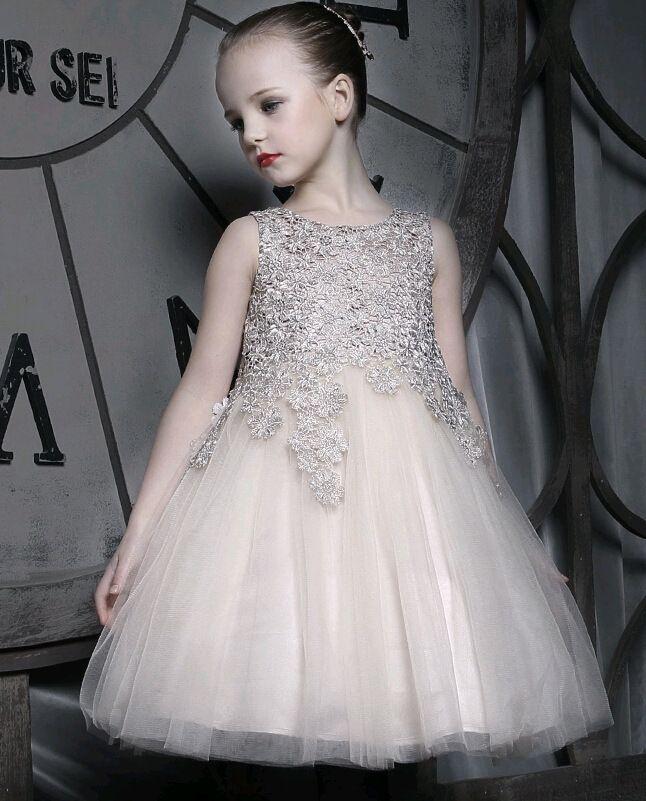 Großhandel 2015 Luxuriöse Blumenmädchen Diamant Häkelspitze Kleid ...