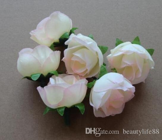 Rosa de seda de color Rose Rosebud Cabeza de la flor Flores artificiales Rose Camellia Peony cabeza de la flor de la boda Fiesta de Navidad