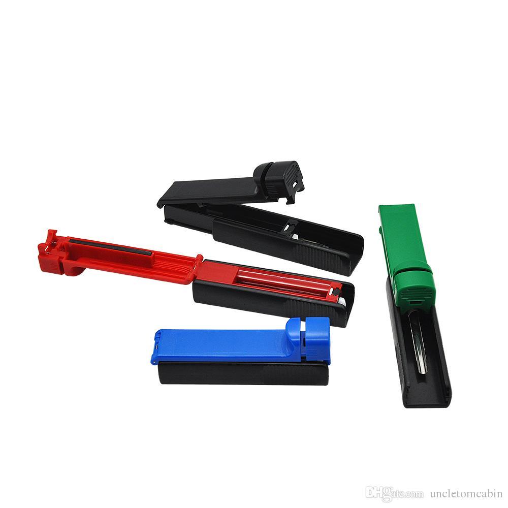 Plastic Manual Cigarette Tobacco Rolling Machine Injector case tube filling roller maker, hand muller metal smoking pipe injectors supplier