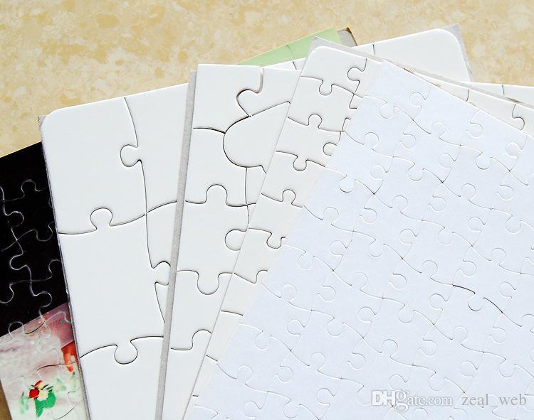 Самая дешевая !!! A4 Сублимации Пустой Пазл 120 шт. DIY Craft Тепло Пресс Передачи Ремесла Головоломки белый в наличии