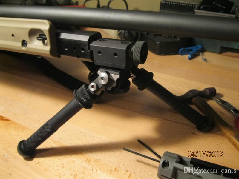 hot sale BT10-LW17-Atlas Adjustable gun Bipod Mount Directly To Any 1913  Style Picatinny Rail Black CL17-0019bk
