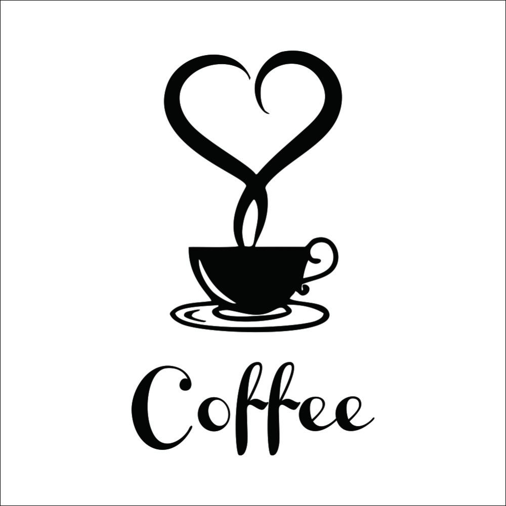 Coffee Cup Vinyl Wall Sticker Coffee Shop Restaurant Wall Decor Decals  Kitchen Decoration Kitchen Wall Stickers Wall Decor Stickers Decorative Wall  Decals ...