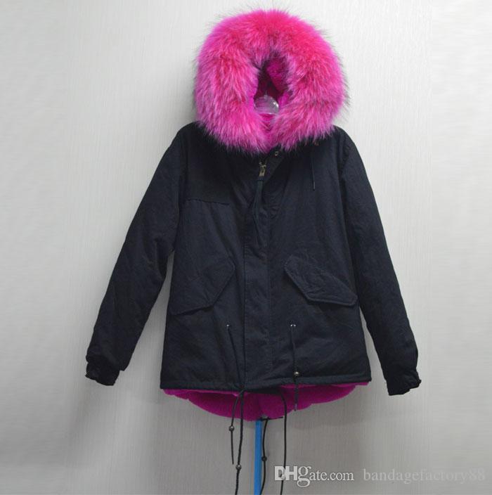 Abajo Capucha Mujer Abrigo Chaqueta Compre Con Piel De wOaq8cBxS