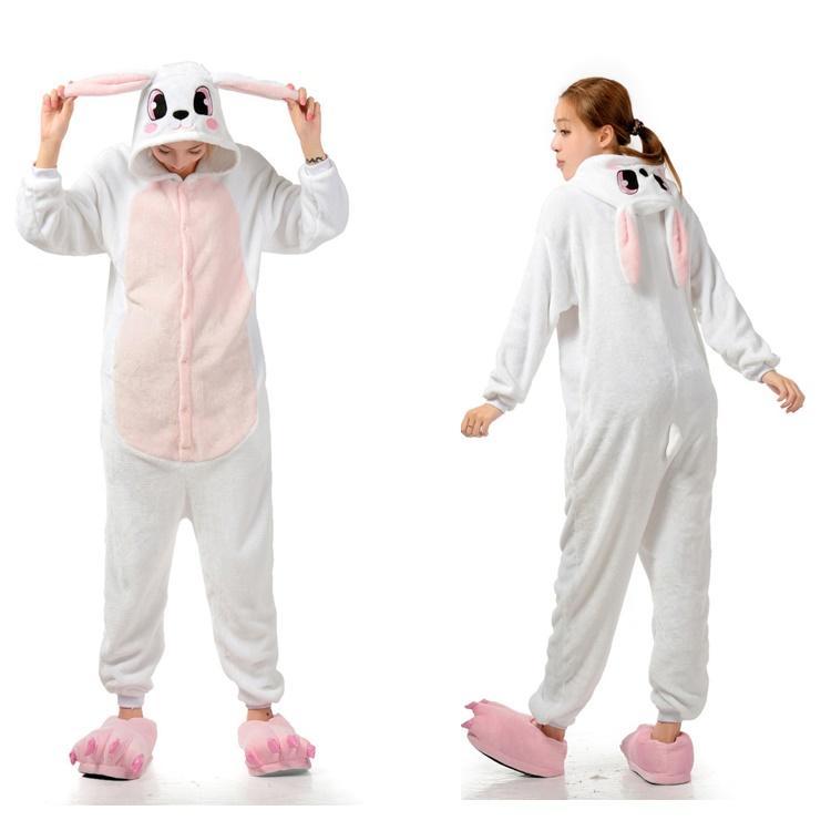 381f0ed01b06 2019 Cute Bunny Animal Onesies Adult Onesies Costume Pyjamas Women Ladies  Animal Onesies Pyjamas Anime Cosplay Kigurumi Animal Costumes From  Mr0michael0y