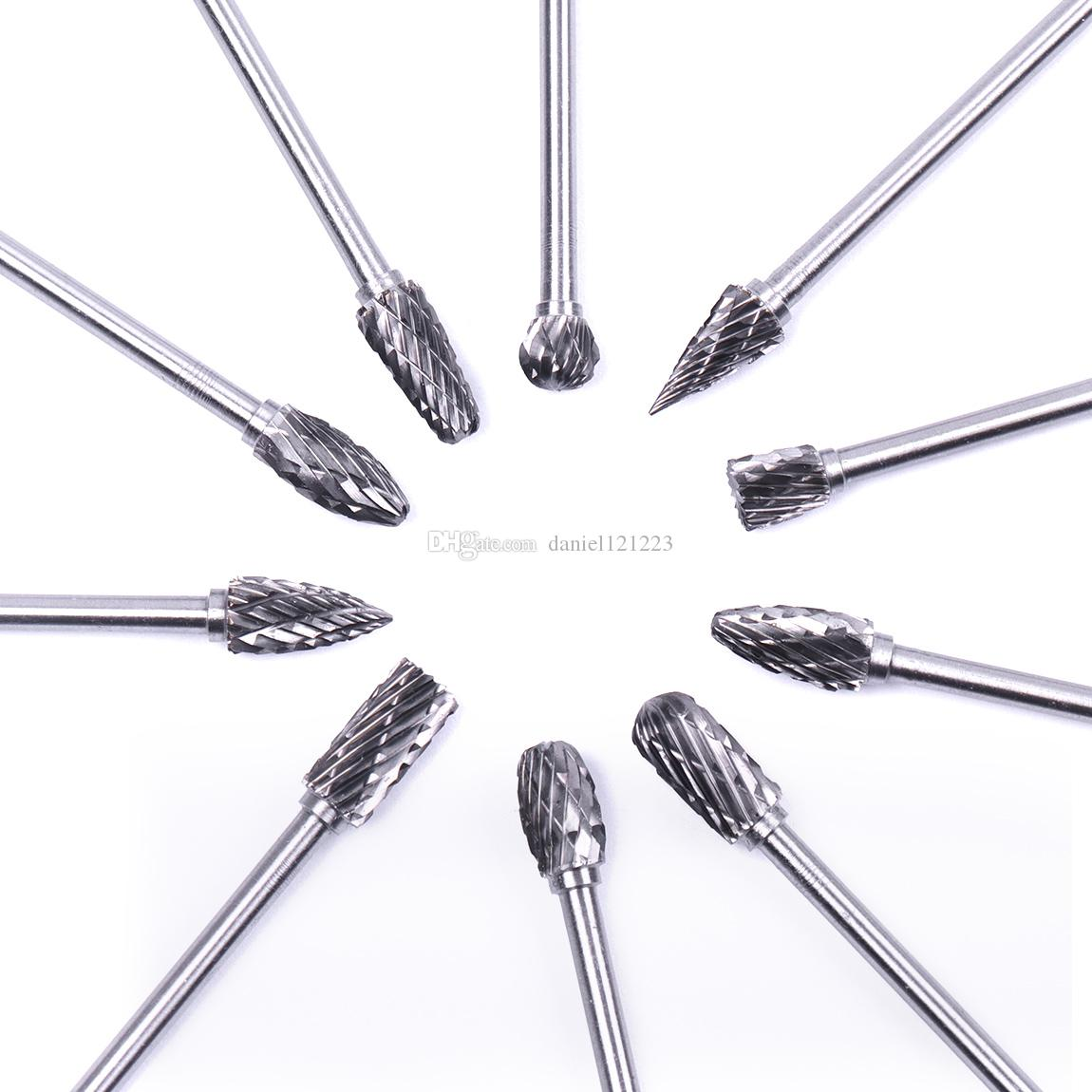 Dremel Carbide Burrs Drill Bit Set Rotary Burr Micro Drill Bits for Metal Woodworking Carving Tool Glass Diamond