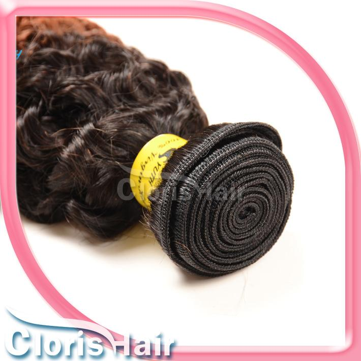 Kinky Bouclés Cheveux Humains Bundles Blonde Péruvienne Vierge Ombre Extensions Pas Cher Racine Foncé Moyen Auburn Afro Kinky Weave Pré-Coloré 1B 30