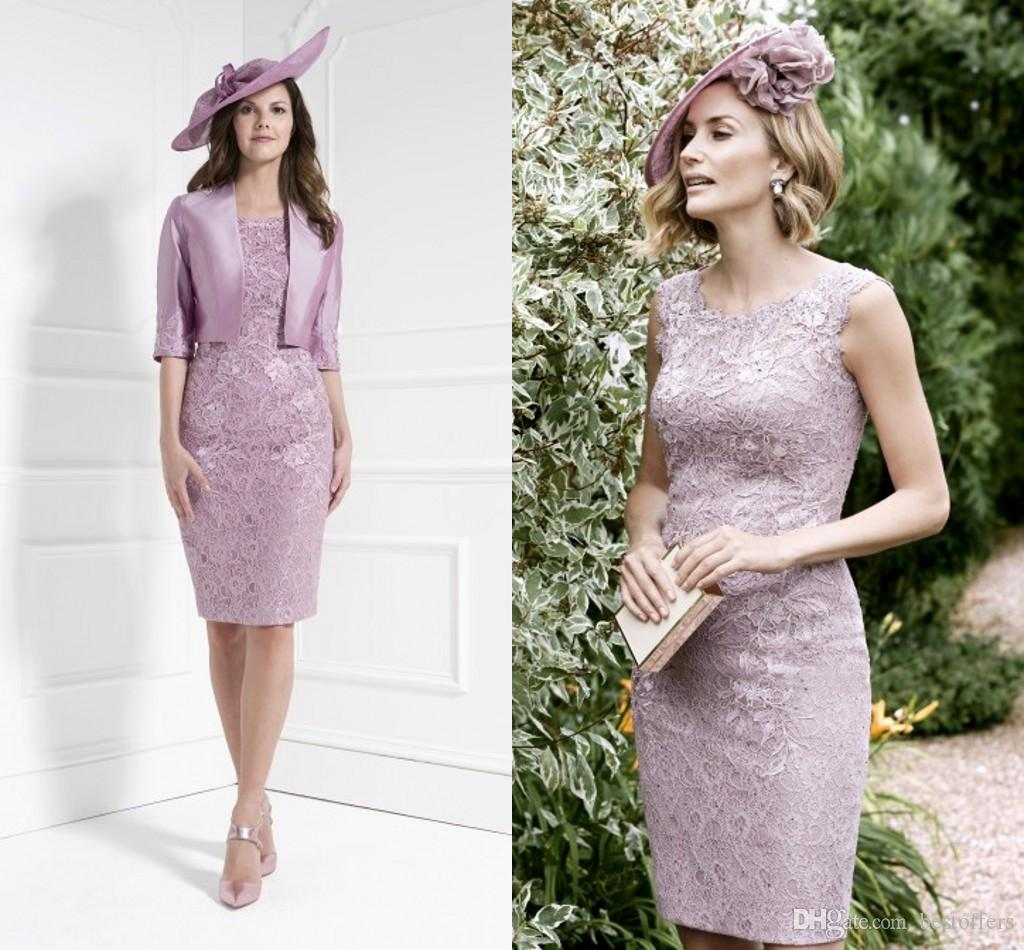 2016 New Arrival Elegant Lace Sheath Mother Of The Bride Dresses With 1/2  Sleeves Jacket Appliques Wedding Mother U0027S Dresses Custom Made Mother Of  The ...