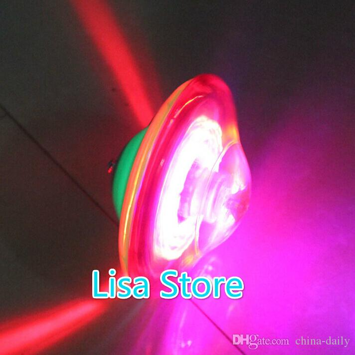 Free EMS 9cm LED beyblade spinning top toys musical peg-top for baby novelty classic toy fusion flash led electric UFO Various angles