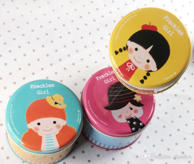Gratis verzending / nieuwe ballet meisje kleine ronde tin blikjes / opslag / pitting meisjes ronde blikjes doos / groothandel, Dandys