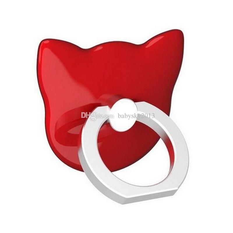 Universal Universal Cat Finger Ring Back Holder 360 Rotating Mount Mobile Phone Finger Grip Lazy Buckle Stand for Samrt Phone