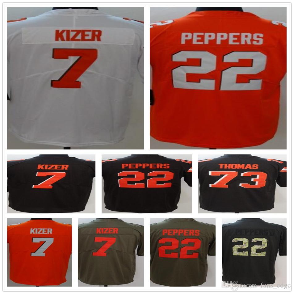 new styles ff6f0 6dab7 2018 New Style Cheap #7 DeShone Kizer 22 Jabrill Peppers 73 Joe Thomas 95  Myles Garrett The Vapor Untouchable Color Rush Legend Jersey