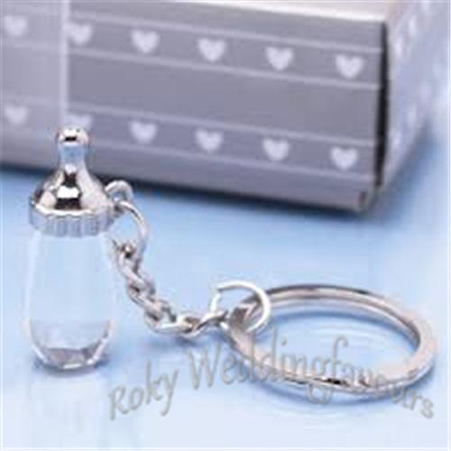 Crystal Baby Bottle Keychain Baby Shower Great Party Favors Ideas Birthday Party Supplies Party Decoration