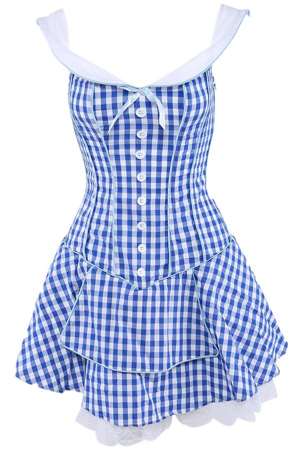 Image result for blue and white plaid dress