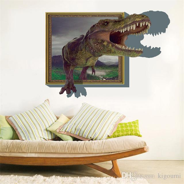 3D Wallpaper Dinosaur High Quality Luxury Creative Child Kids Bedroom Living Ceiling Painting Roofs Room Wall Stickers