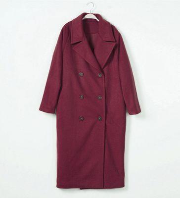 2017 nouvelle arrivée laine manteau survêtement femmes x-long turn down collier épaississement chaud manteau de laine de cachemire