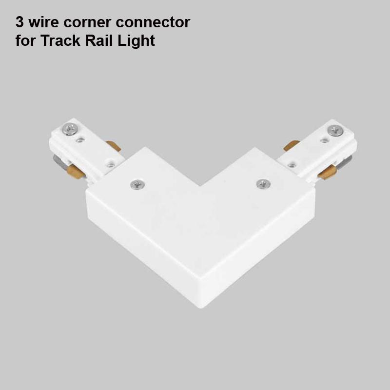 Carril de riel LED 1 m 3 Riel de alambre Accesorio de iluminación Conector Riel universal Foco Fixtrure Ropa Zapatería Para América Australia Canadá