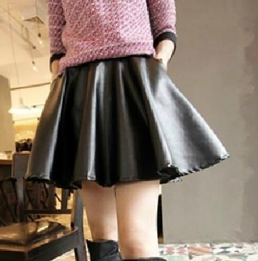 Something is. teen girl in leather skirt you tell
