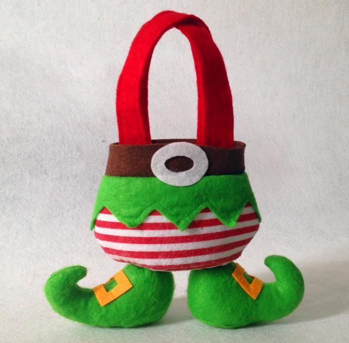 Großhandel Tuch Weihnachten Süßigkeit Geschenk Taschen Für Kinder ...
