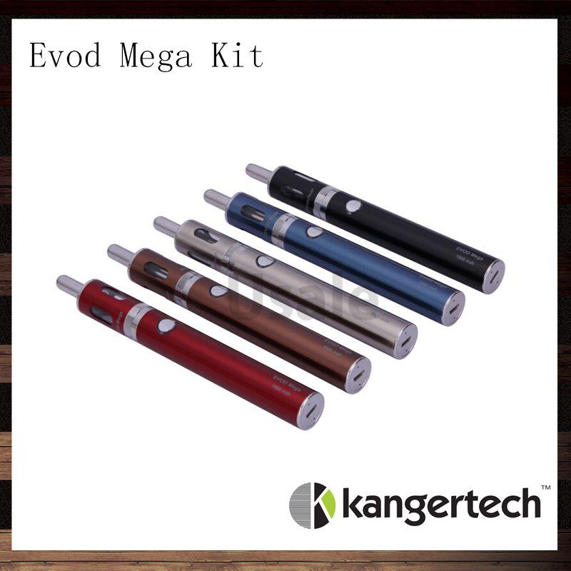 Kanger Evod Mega Kit Kangertech Evod Mega E-sigaretta Starter Kit con 2.5ml Atomizzatore 1900 mAh Batteria 100% Originale VS Subox Mini Kit