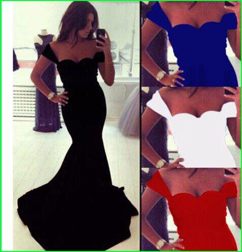 0190 - gratis frakt 2015 nya mode kvinnor kvällsklänningar vestidos de festa vestido longo dress fest kväll elegant