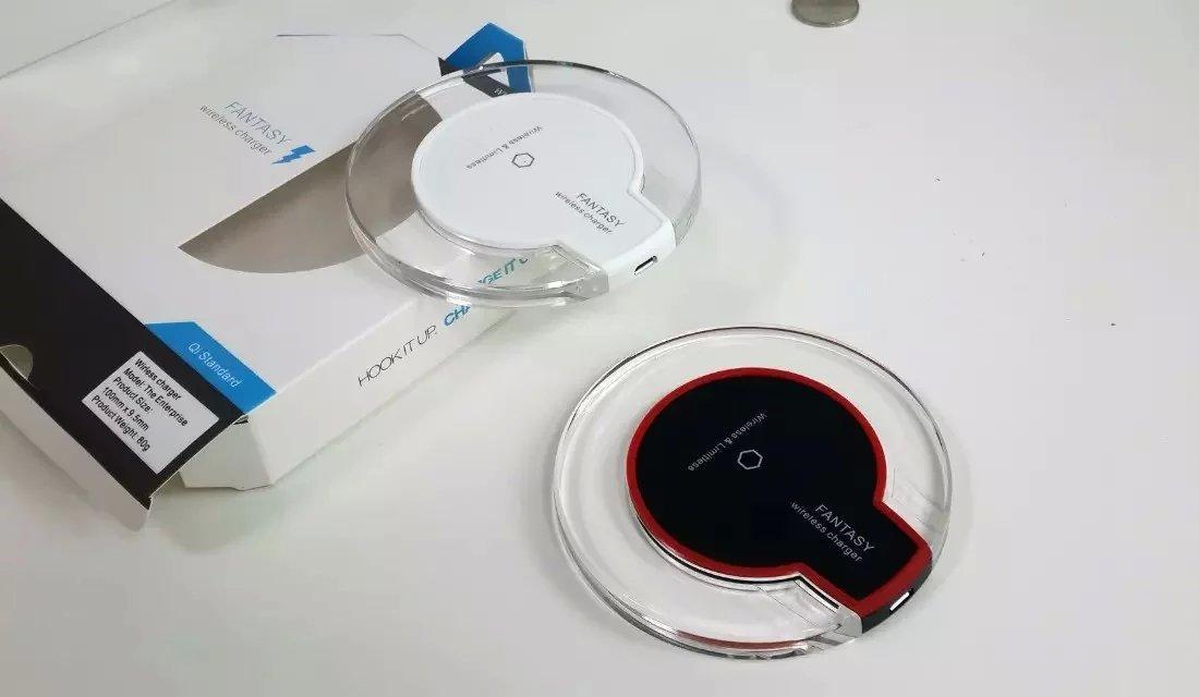 Crystal Fantasy Qi Cargador inalámbrico para iPhone X 8 Plus Pad de carga Mini para Samsung S6 S7 Edge Plus S8