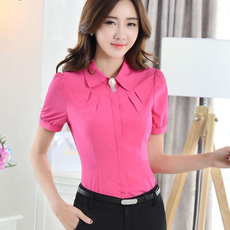 Women Work Wear Office Shirt Polyester Women Business Suits
