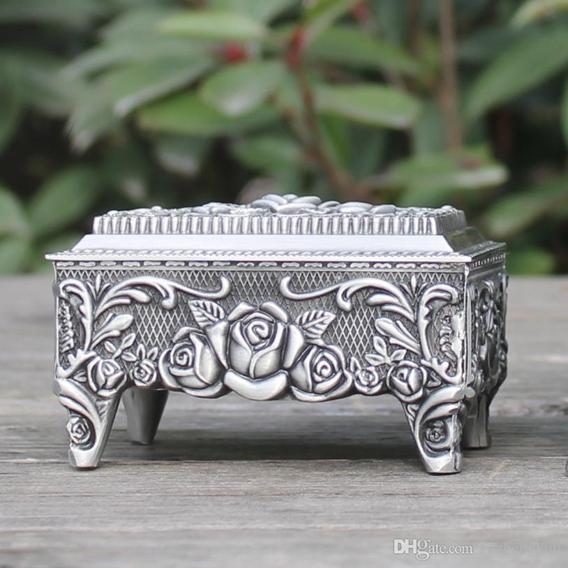 Zinklegering Sieraden Doos Turk Pated Rose Design Trinket Box Filmrops Hot-Sellig Geschenkdoos